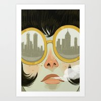 glasses Art Prints featuring Glasses by Ericka Lugo