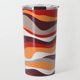 Cordillera Stripe: Red, Orange Combo Travel Mug