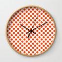 Orange and white polka dots pattern by sunshineprints