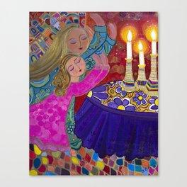 Sisters Storm the Heavens Canvas Print