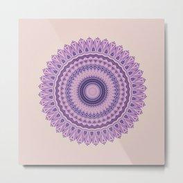 Pastel Pink And Purple Mandala Metal Print
