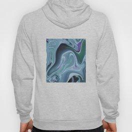 Blue Ocean Wave Abstract Hoody