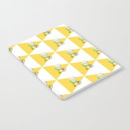 Cycling Polar Bear Triangle Notebook