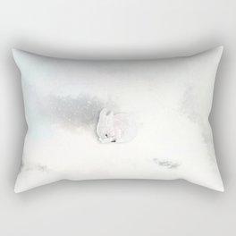 Rabbit In A Snowstorm Rectangular Pillow