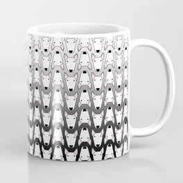 small gridlock duffle grey gradient Coffee Mug