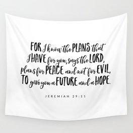 Jeremiah 29:11 - Bible Verse Wall Tapestry