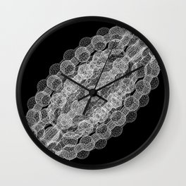 GEOMETRIC NATURE: COULOMB CRYSTAL b/w Wall Clock