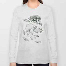 Rose in the wind Long Sleeve T-shirt