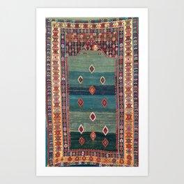 Sivas Antique Turkish Niche Kilim Art Print
