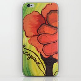 """be inspired"" iPhone Skin"