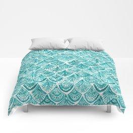 AQUA LIKE A MERMAID Fish Scales Comforters