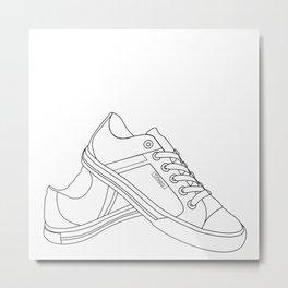 Two Shoe Word Metal Print