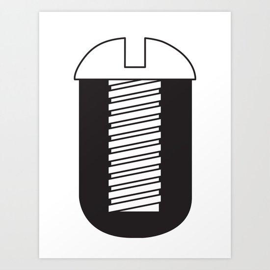 Screw You Art Print