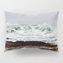 Green Wave Breaking Pillow Sham