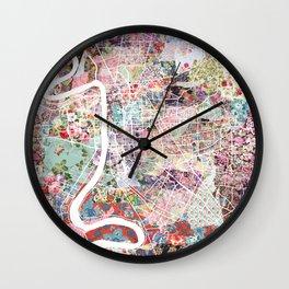 Baton Rouge map Wall Clock
