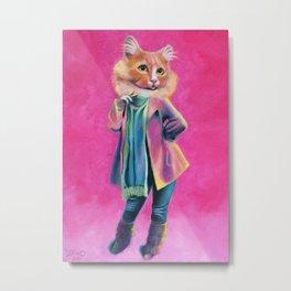 Disco Cat Metal Print