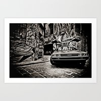 delorean Art Prints featuring Delorean by SIMid