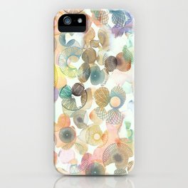 Watercolour spirographs iPhone Case