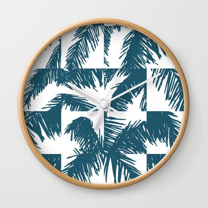 Palm Leaf Pattern Blue