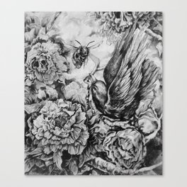 Bird and Bee Canvas Print