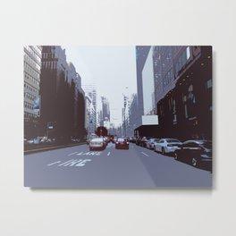New York Streetscape Metal Print