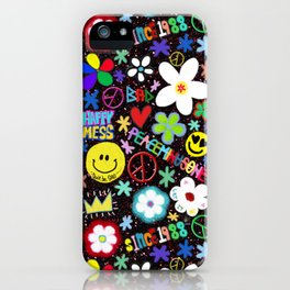 PMO colorful collage iPhone Case