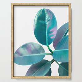 Ficus Elastica Iridescent Glam #1 #tropical #foliage #decor #art #society6 Serving Tray