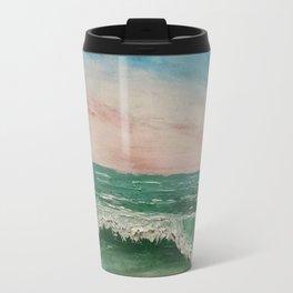 Abstract Caribbean Ocean Wave Travel Mug