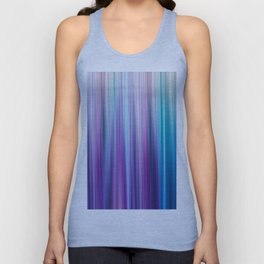 Abstract Purple and Teal Gradient Stripes Pattern Unisex Tank Top