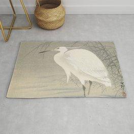 Little egret - Ohara Koson (1900-1930) Rug