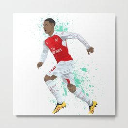 Kieran Gibbs - Arsenal FC Metal Print