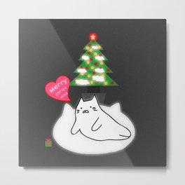 Merry Christmas cat 89 Metal Print