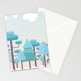 Snowy Winter Forest Stationery Cards
