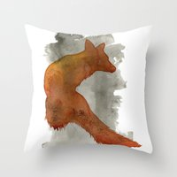 robert farkas Throw Pillows featuring Ode to Robert Farkas by Brown Paper Bunny