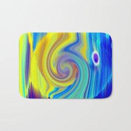 Colorful Abstract Fish Art Bath Mat