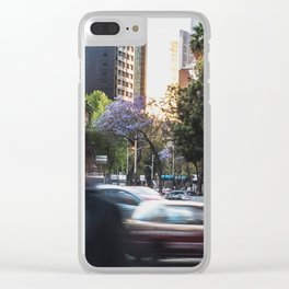Moving World Clear iPhone Case