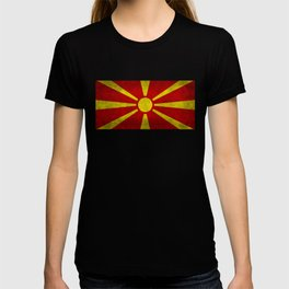 Flag of Macedonia in Super Grunge T-shirt