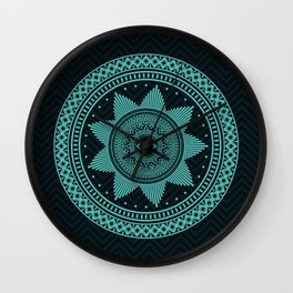 Eye of Protection Mandala Wall Clock
