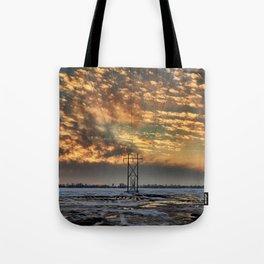 Winkler winter evening sky Tote Bag