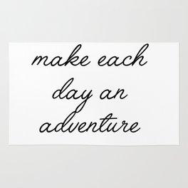 make each day an adventure Rug