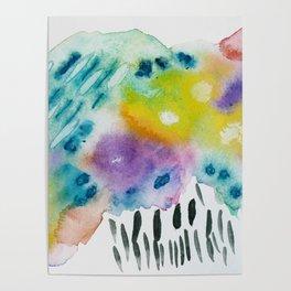 Clouds, Rain, Rainbow Poster