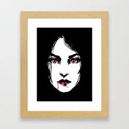 Vampire Girl Framed Art Print