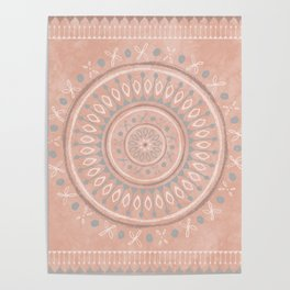 """""""Astral Lullaby"""" in Pink Poster"""