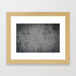 Wet concrete Framed Art Print