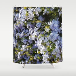 a violet flower in the heart of Athens Shower Curtain