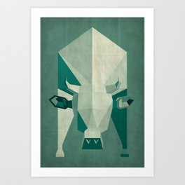Picasso style abstract cow Art Print