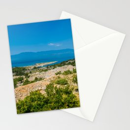Landscape with mountain and Adriatic sea in Croatia Stationery Cards