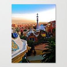 Barcelona - Gaudí's Park Güell Canvas Print