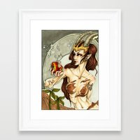 capricorn Framed Art Prints featuring Capricorn by TammyWitzens