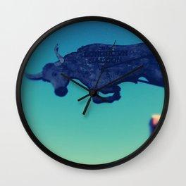 The flying bull Wall Clock
